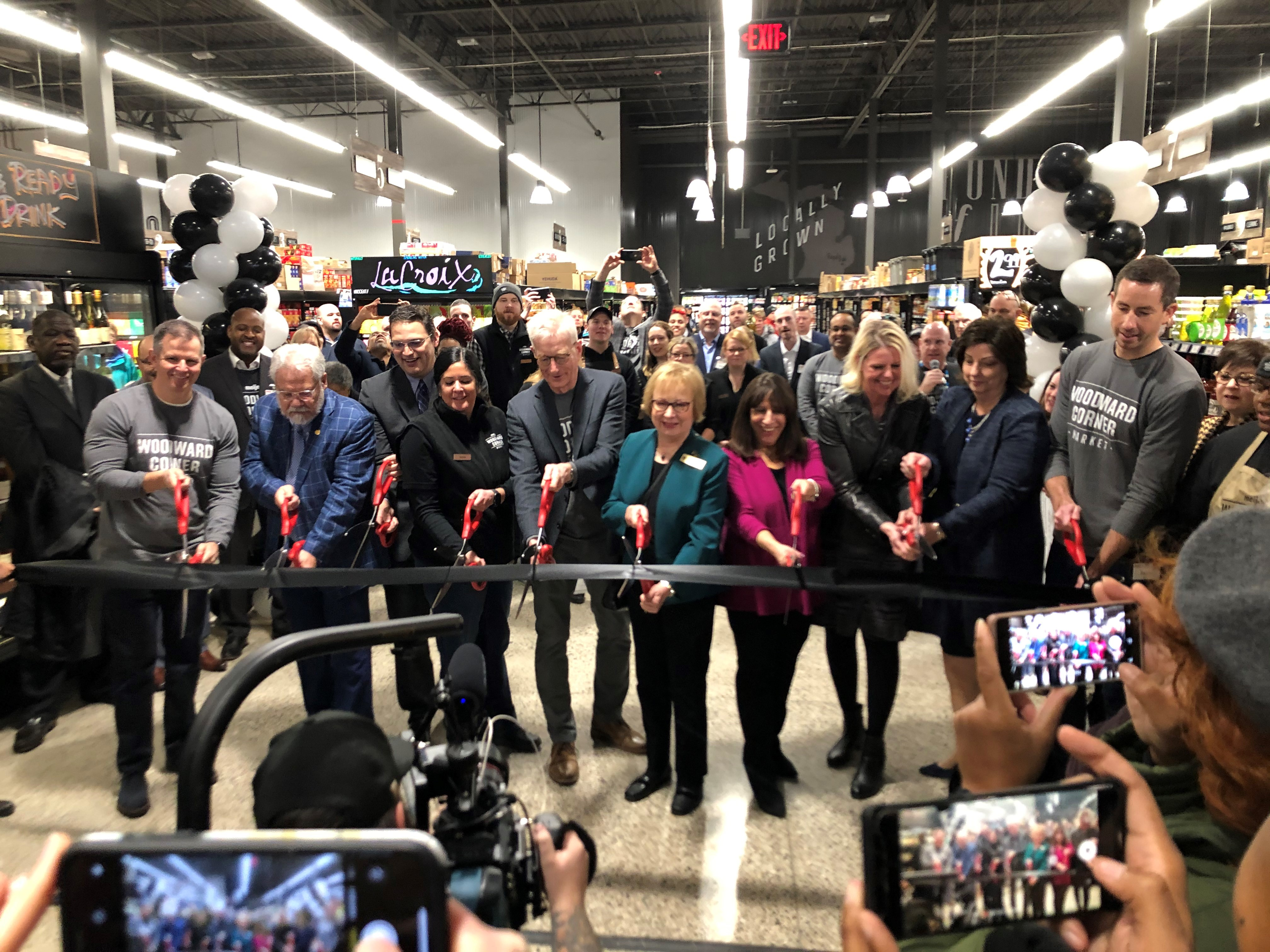 Market ribbon cutting