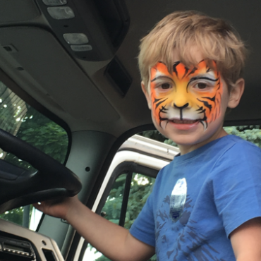 Kid with Face Paint